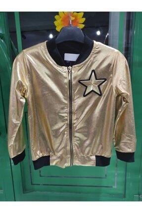Kız Çocuk Altın Fermuarlı Ceket 0652