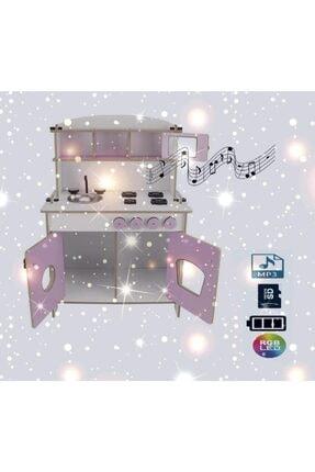 PARSTEK Ahşap Çocuk Mutfak Eğitici Müzikli Işıklı ve Pilli Sd,mp3 1