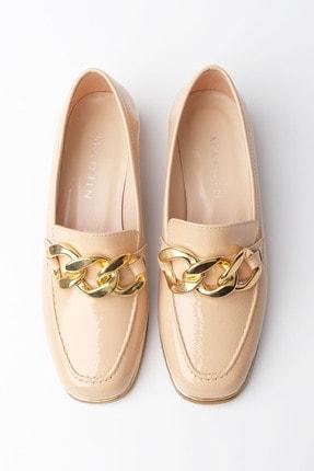 Marjin Kadın Bej Rugan Loafer Ayakkabı Annar 0
