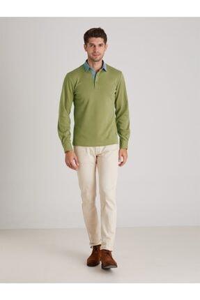 Dufy Yeşil Düz Erkek Sweatshırt - Slım Fıt 2