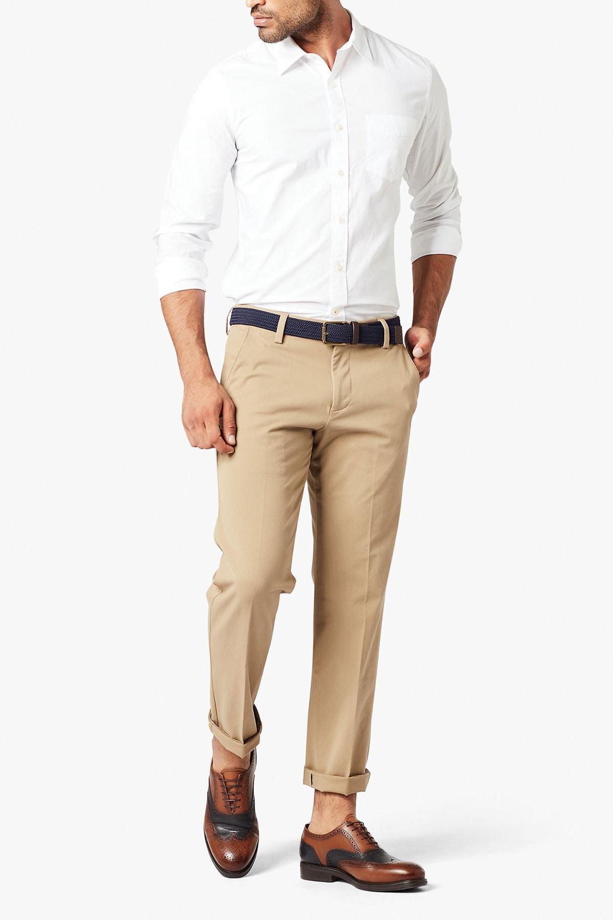 Erkek Smart 360 Flex Workday Khaki Pantolon, Slim Fit 3627200010