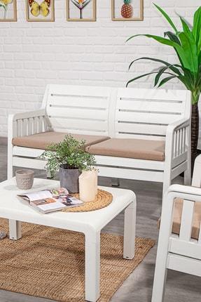 SANDALİE Lara 2 1 1 S Balkon&teras Bahçe Mobilyası / Beyaz 1