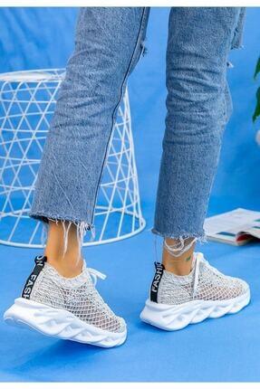 Beyond  Kadın Beyaz Dantelli Bağcıklı Yumuşak Ortopedik Taban Sneaker 4