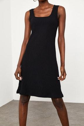 Xena Kadın Siyah Fitilli Elbise 1KZK6-11610-02 2