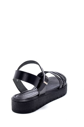 Derimod Kadın Siyah Deri Sandalet 3