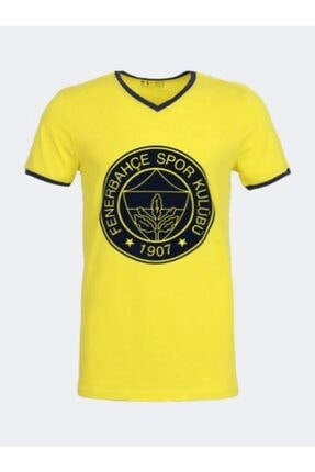 Picture of Erkek Fenerbahçe Forma Kabartma Logolu Sarı T-shırt