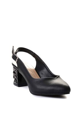 Bambi Siyah Kadın Klasik Topuklu Ayakkabı K01688071109 2