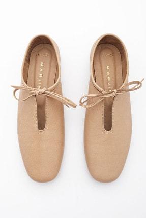 Marjin Kadın Bej Hakiki Deri Günlük Ayakkabı Burlas 4