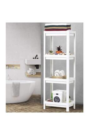 KARİN EV Ikea Vesken 3 Bölmeli Banyo Raf Ünitesi Beyaz Banyo Mutfak Düzenleyici 0