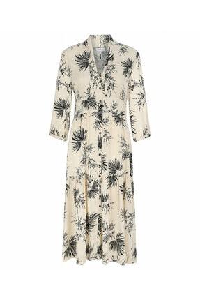 İpekyol Yaprak Desen Gömlek Elbise 3