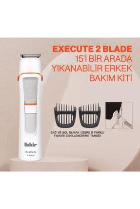 Fakir Execute 2 Blade 15'i Bir Arada Beyaz Erkek Bakım Kiti 3