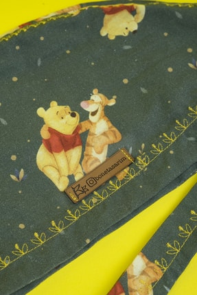 Best Bone Lisanslı Winnie The Pooh Desenli Cerrahi Bone 1