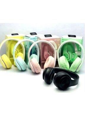 Hooptech Sarı Macaron Set Bluetooth Kablosuz Stereo Kulaklık 4