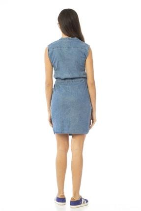 CEDY DENIM Kadın Mavi Kolsuz Midi Kot Elbise Jeans Cb695 3