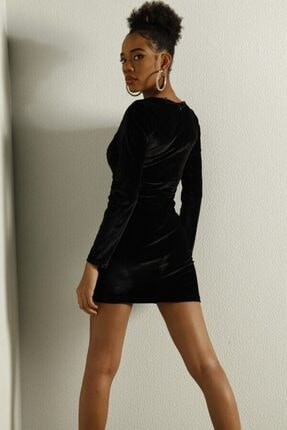 HOLLY LOLLY Kadın Siyah Elbise 2