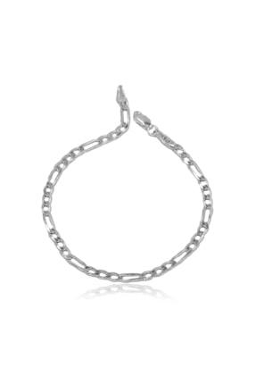 Ventino Silver Erkek Figaro Gümüş Zincir Bileklik Veb-5022 1