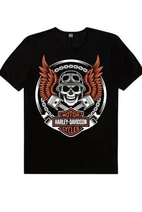 Rock & Roll Erkek Siyah Sakallı Kurukafa, Motorcu Kurukafa, Beyaz Korsan Kurukafa 3'lü Eko Paket T-shirt 2