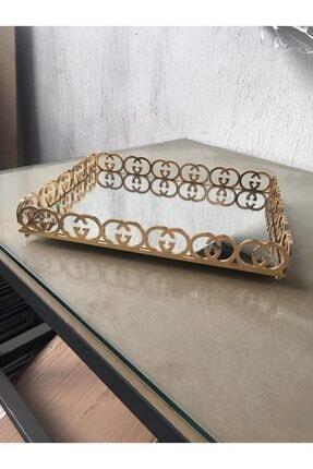 30x40 Lazer Gucci Gold Tepsi TEPSİ-09.001