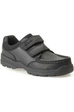 CLARKS Erkek Çocuk Siyah Deri Ayakkabı 0