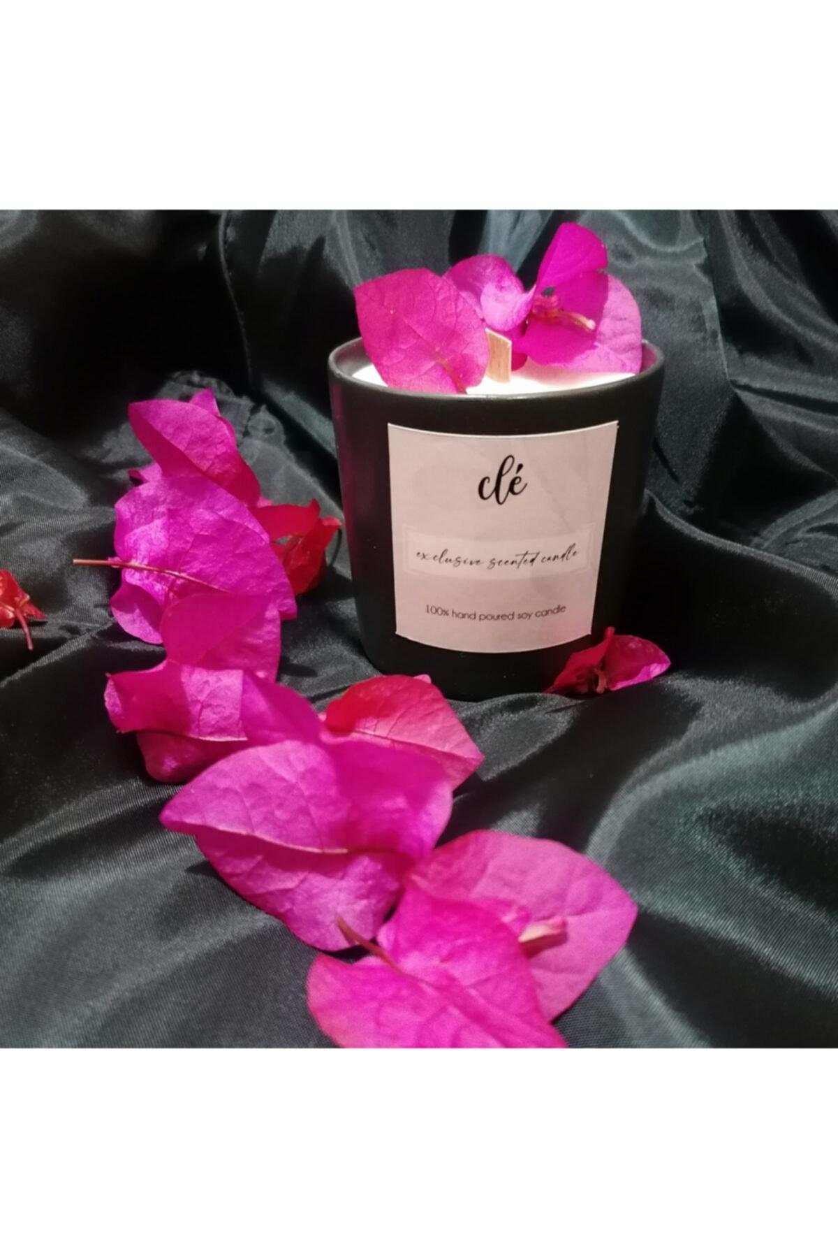 Aromaterapi Doğal Soya Mumu Siyah 210 Gr Jasmin&french Rose