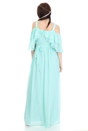 Entarim Kadın Yeşil Hamile Maxi Baby Shower Elbisesi 6021düz 4