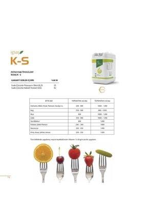 İGSAŞ K-S Potasyum Tiyosülfat Bahçe Çiçek Bitki Meyve Sebze Suda Çözünür Sıvı Kükürt Gübresi 25 kg 1