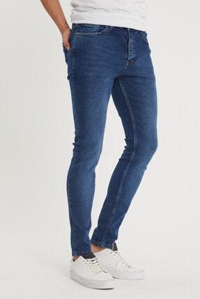 XHAN Erkek Lacivert Slim Fit Jean Pantolon 1kxe5-44351-14 1