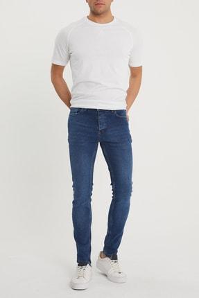 XHAN Erkek Lacivert Slim Fit Jean Pantolon 1kxe5-44351-14 3