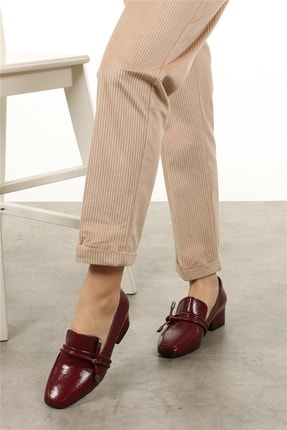 Mio Gusto Katrina Bordo Rugan Topuklu Ayakkabı 3