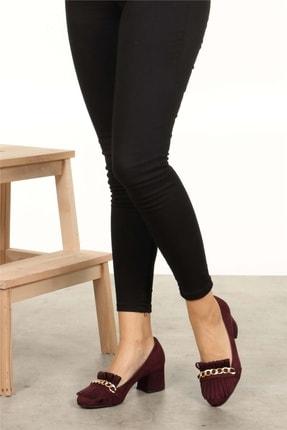 Mio Gusto Sharon Bordo Topuklu Ayakkabı 3