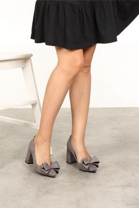 Mio Gusto Liz Gri Fiyonklu Ayakkabı 1