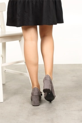 Mio Gusto Liz Gri Fiyonklu Ayakkabı 3