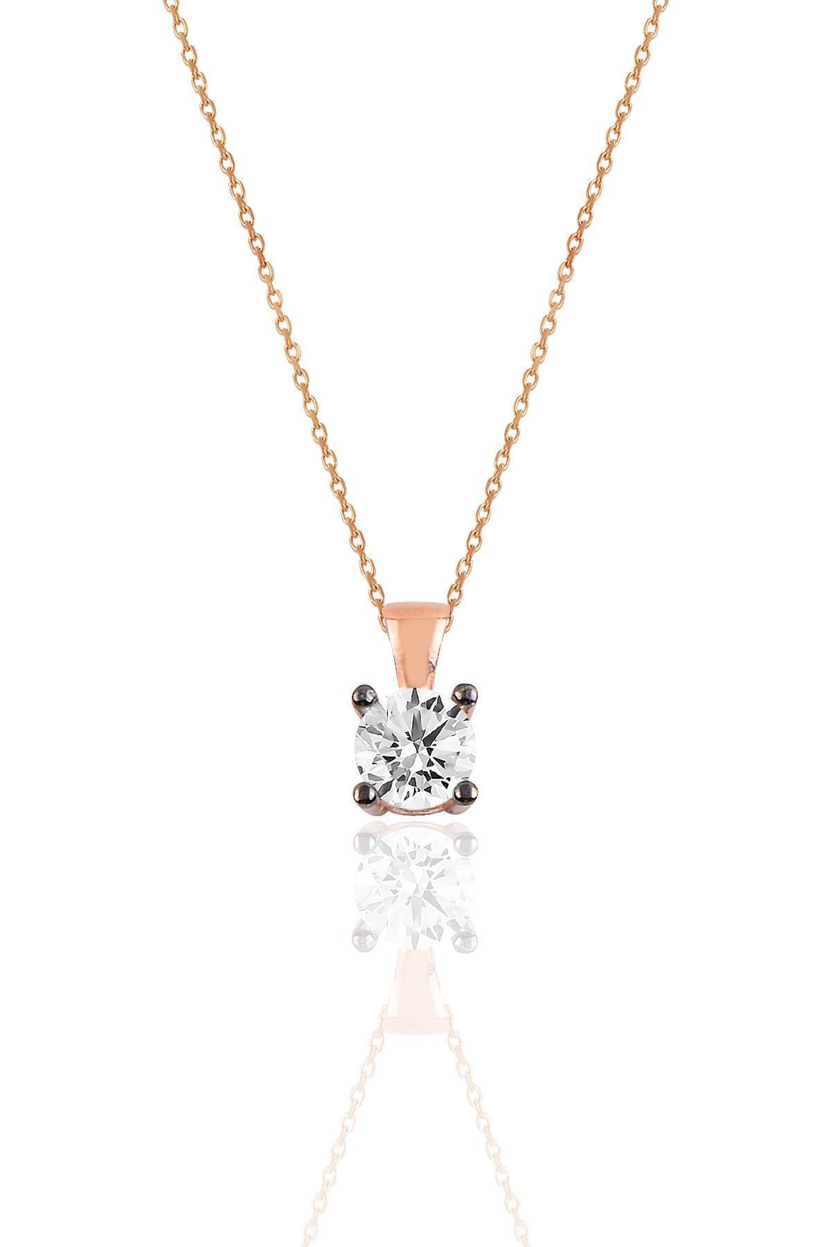 Söğütlü Silver Gümüş rose kolye ve küpe gümüş set 1