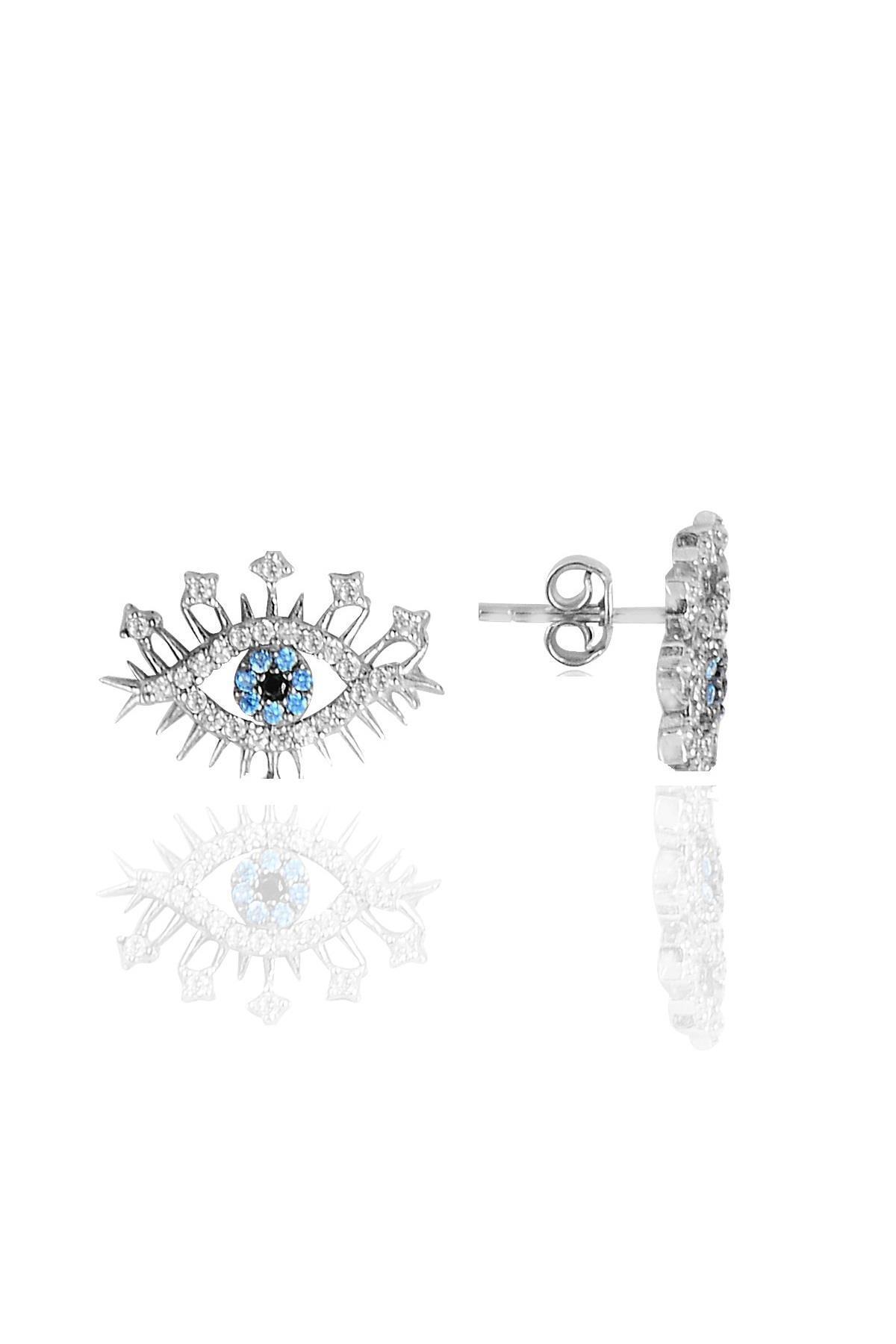 Söğütlü Silver Gümüş rodyumlu zirkon taşlı lareyn kolye küpe ve yüzük gümüş set 3