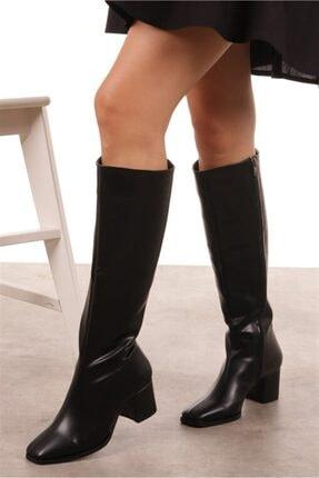 Mio Gusto Courtney Siyah Küt Burun Çizme 4