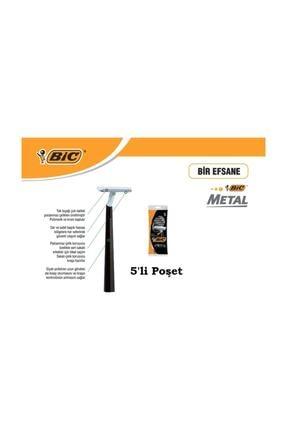 Bic Metal Tıraş Bıçağı 5'li Poşet 1