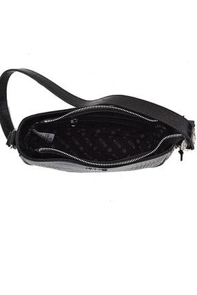 ICONE BAG Kadın Siyah Timsah Desenli Küçük Kol Çantası 3