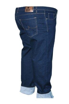 Epos Erkek Lacivert Büyük Beden Likralı Fit Kalıp Kot Pantolon 0
