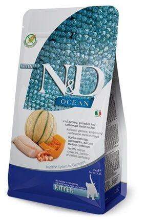 ND Ocean Morina, Balkabağı Karides & Kavun Kıtten 1,5 kg 0