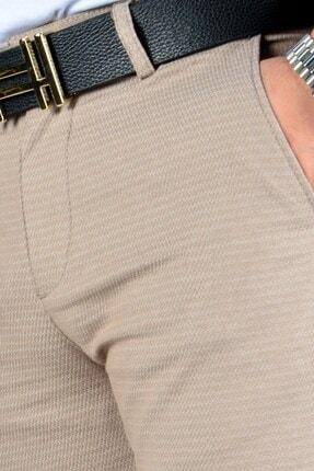 Terapi Men Erkek Bej Keten Pantolon 4