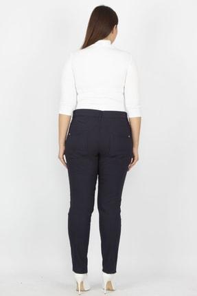 Şans Kadın Lacivert Fermuar Detaylı Pantolon 65N20932 2