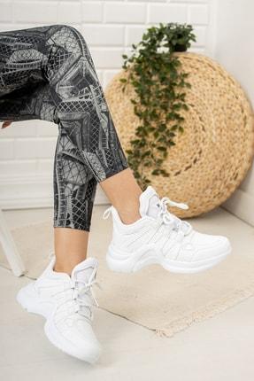 Moda Değirmeni Beyaz Kadın Sneaker Md1054-101-0001 1