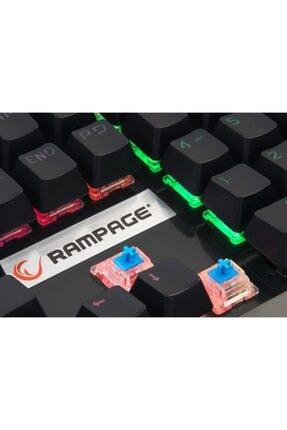 Rampage Mecony R8 Semi Usb Q Eng Rgb Led Aydınlatmalı Mekanik Mavi Switch Siyah Gaming Klavye 1