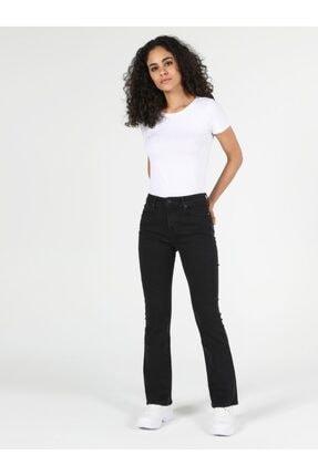 Colin's 791 Monıca Regular Fit Orta Bel Boru Paça Kadın Siyah Jean Pantolon 2