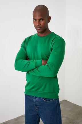 TRENDYOL MAN Yeşil Erkek Regular Fit Bisiklet Yaka Uzun Kollu Sweatshirt TMNAW20SW0165 2