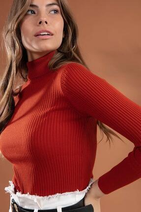 Y-London Kadın Boğazlı Fitilli Triko Kazak Y20w110-44500 2