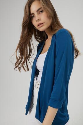 Y-London Kadın Lacivert Şal Yaka Blazer Ceket Y20W169-1185 2