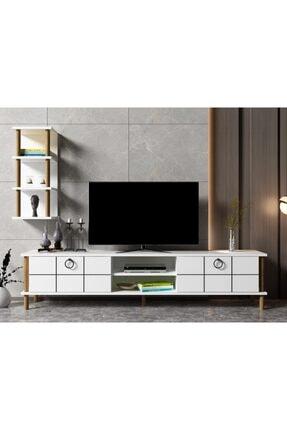 ayaz home Lotus Tv Ünitesi Beyaz 0