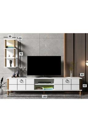 ayaz home Lotus Tv Ünitesi Beyaz 3