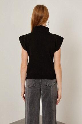 Arma Life Kadın Siyah Vatka Görünümlü Kolsuz Bluz 4